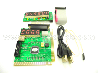 New 12 digit Desktop Computer PCI Motherboard Diagnostic POST Analyzer Test Card with USB LPT