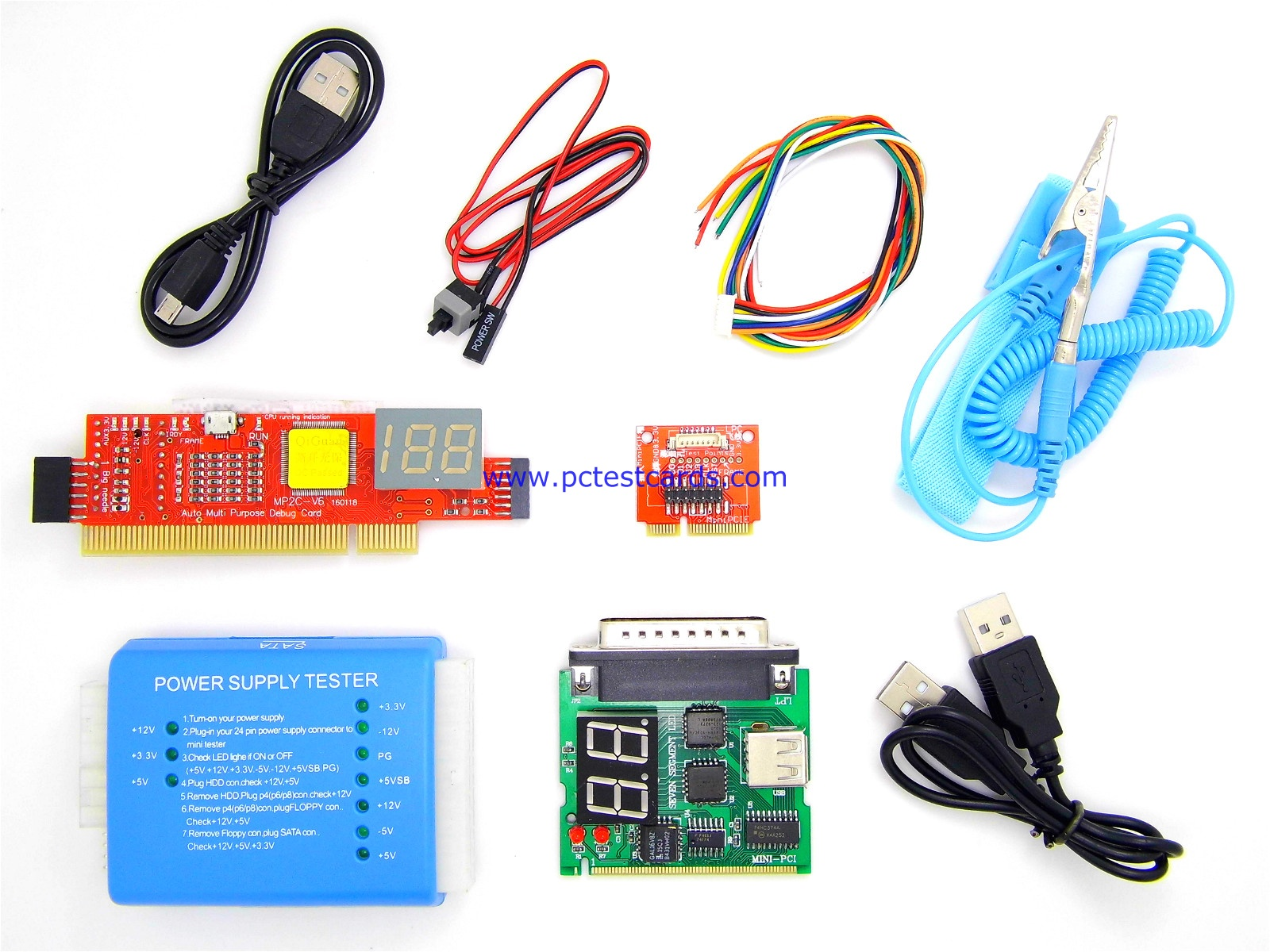 New Complete Essential Pc Laptop Motherboard Power Psu Repair Diagnostic Analyze Post Test Tool Kit Pctestcards Com