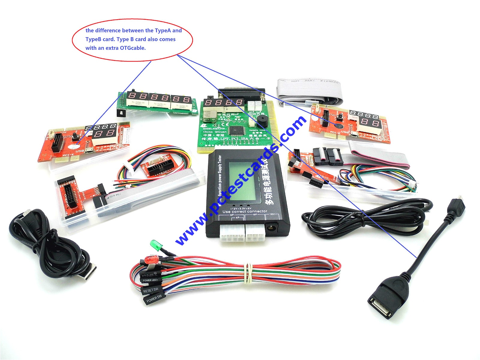 Complete set of the computer diagnostic kit total 5 items for snackpackcomp