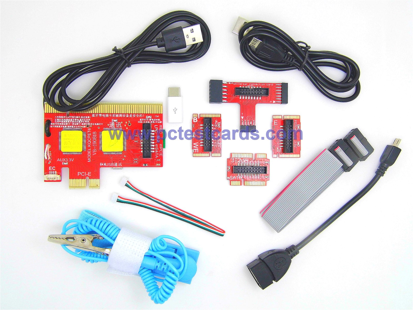 New Latest Complete PC Laptop Android Motherboard Quick Repair PCIe USB M.2 mSATA miniPCIe LPC PCI POST Test Card Kit