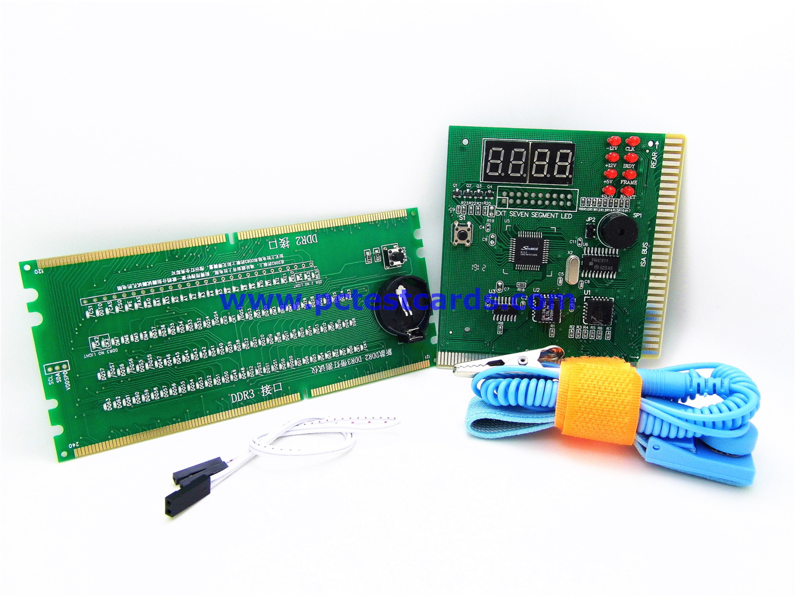 New Desktop PC Computer Motherboard and RAM Slot DDR2 DDR3 Analyzer No POST no Display Digital LED Diagnostic Test Cards Kit